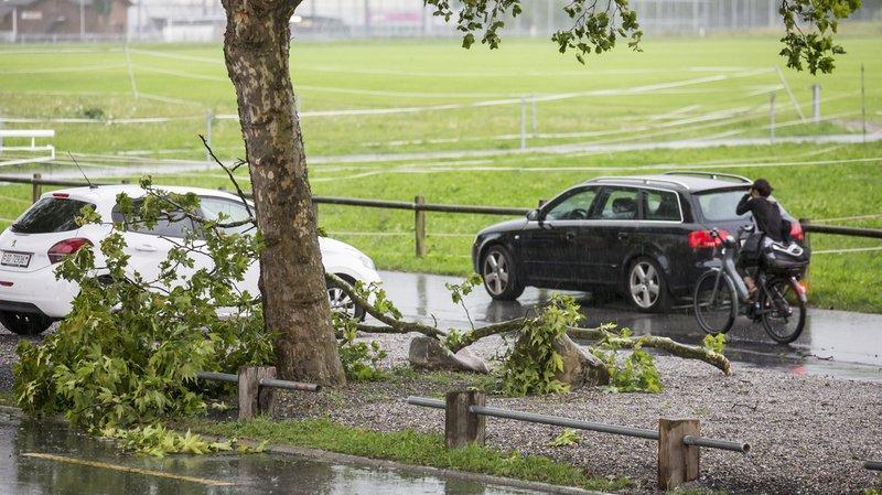 Après la canicule, la grêle, la pluie et la tempête balaient la Suisse alémanique
