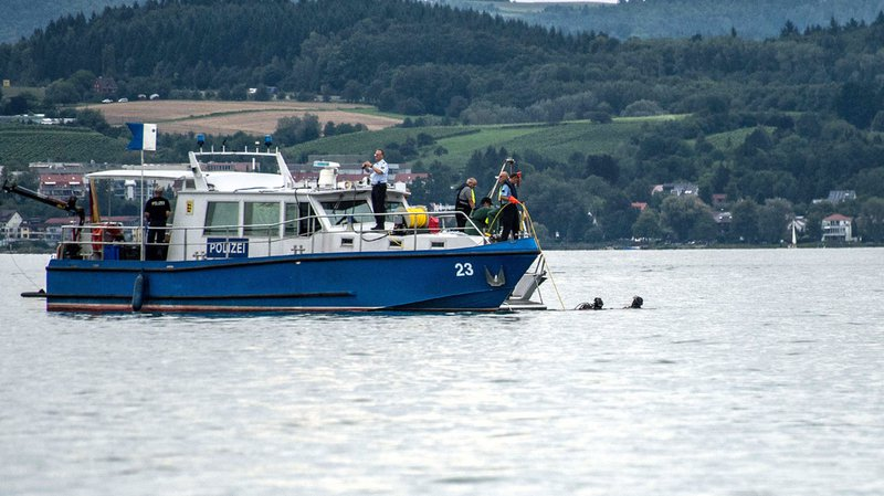 Crash d'avion dans le lac de Constance: des morceaux de l'épave sortis de l'eau