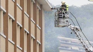 Important incendie au collège des Crosets à Vevey