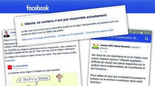 Valais: la page Facebook des jeunes UDC du Valais romand bloquée