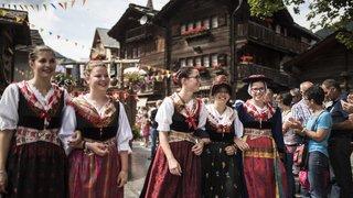 Les festivités de la mi-été ce 15 août dans le village d'Evolène.