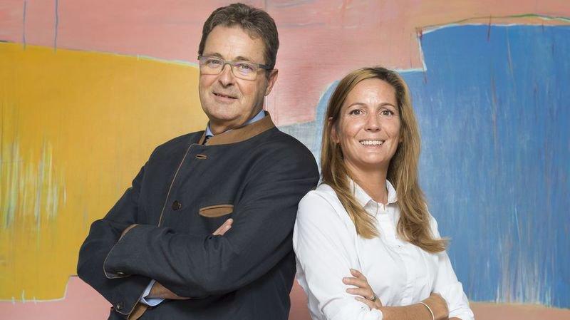 Jean-René Fournier,conseiller aux Etats PDC, et Sylvie Masserey Anselin,députée PLR au Grand Conseil croisent le fer sur la réforme de la prévoyance 2020.