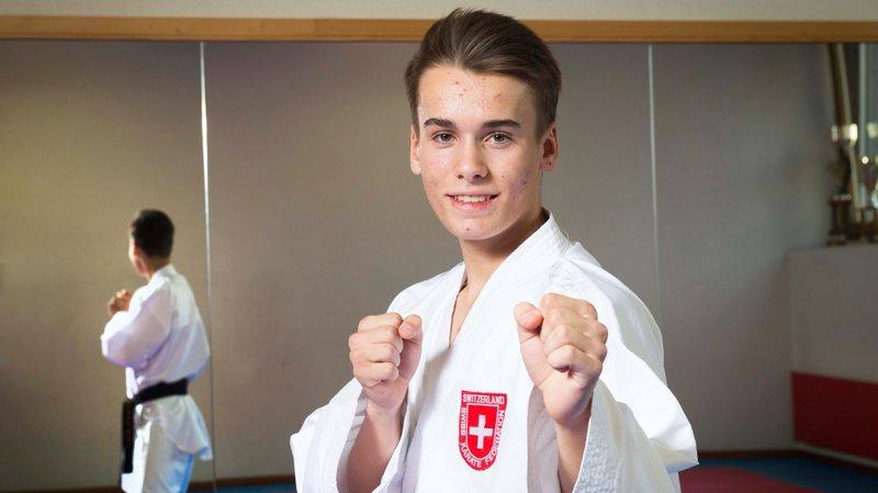 Jean-Baptiste Dayer a fini par s'incliner aux Mondiaux junior de karaté.