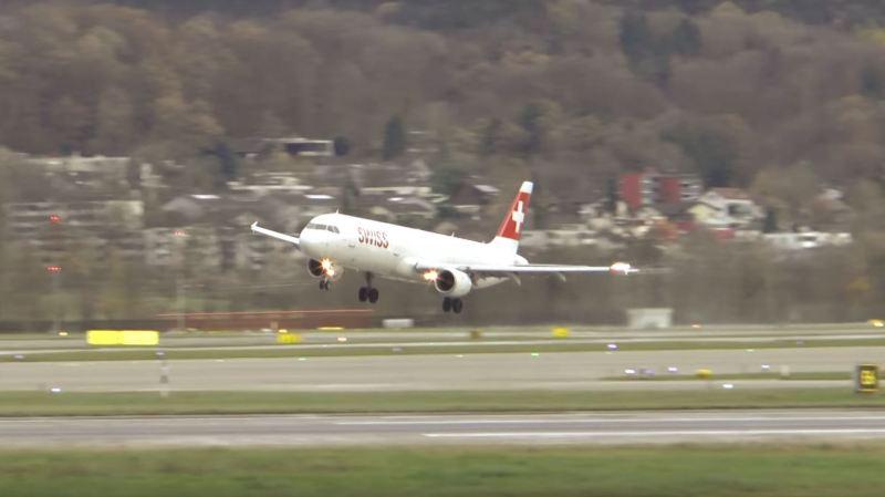 Zurich: atterrissage avorté au dernier moment pour un vol Swiss à cause de la tempête