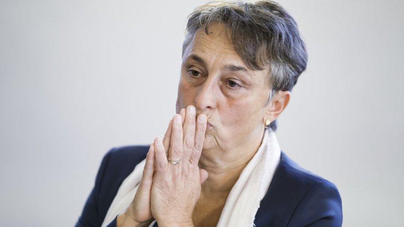 La Conseillère d'Etat du canton de Fribourg Marie Garnier