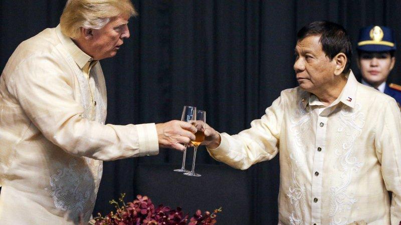 Donald Trump et Rodrigo Duterte se sont rabibochés.