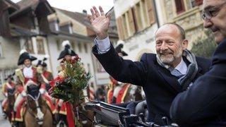 Conseil National: le nouveau président Dominique de Buman célébré à Fribourg