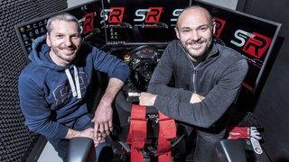 Charrat: Berguerand et Carron testent un simulateur pour piloter comme un pro