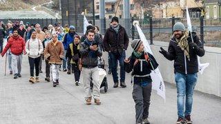 En marche pour s'imprégner du ressenti des migrants