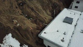Valais: les intempéries provoquent un impressionnant glissement de terrain à Savièse