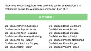 Quatorze co-présidents pour porter la campagne de Sion 2026