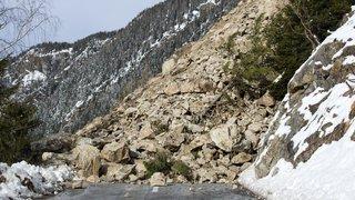 Trient: après l'éboulement de samedi, la falaise est particulièrement instable
