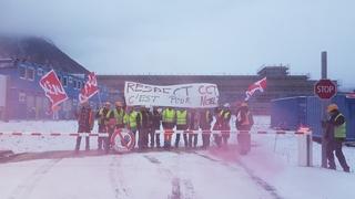 Grève sur  le chantier du nouvel hôpital
