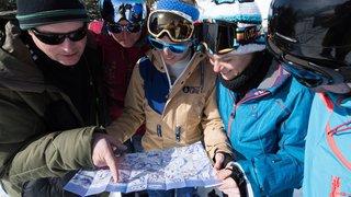 Un jeu de pistes sans frontière, skis aux pieds