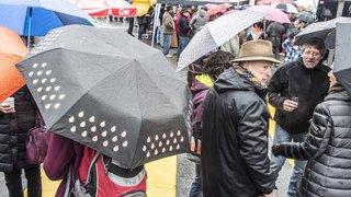 Monthey: l'an nouveau célébré sous la pluie