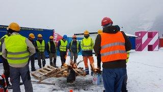Rennaz: les employés en grève du chantier de l'Hôpital Riviera Chablais ont obtenu gain de cause