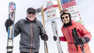 Verbier-Bruson: deux aînés s'éclatent sur les pistes 180 jours par hiver