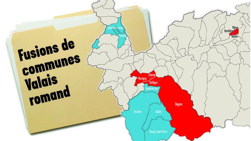 Valais romand: 60 000 citoyens concernés par les fusions de communes