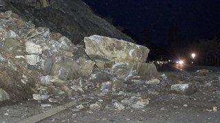 La route Sion-Saint-Léonard reste fermée suite à un éboulement