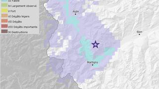 Un séisme de magnitude 2,6 a secoué le Bas-Valais samedi en fin d'après-midi