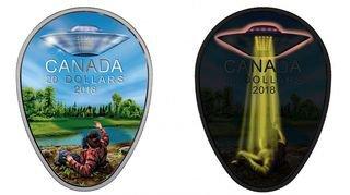 Canada: une pièce de monnaie à l'effigie d'un OVNI qui ne passe pas inaperçue