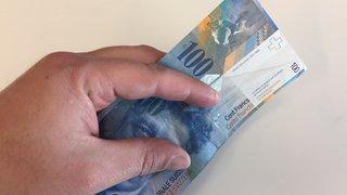 Sion: faux billets de cent francs écoulés durant carnaval