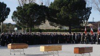 France: dernier hommage aux 3 victimes civiles de l'attentat terroriste de Trèbes