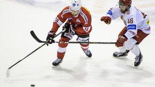 Hockey: la Suisse bat la Biélorussie de justesse en match de préparation pour le mondial