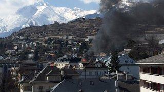Deux bâtiments ont été la proie  des flammes à Sion et à Morgins