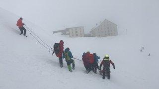 Grand-St-Bernard: la personne emportée dans l'avalanche était en tournage