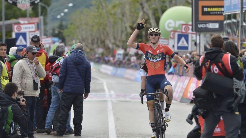 Cyclisme - Giro: le Slovène Matej Mohoric remporte la 10e étape du Tour d'Italie