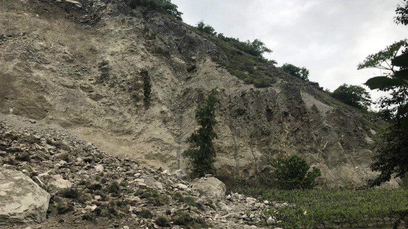 Sierre: un faible séisme enregistré à l'heure de l'éboulement de la colline des Plantzettes