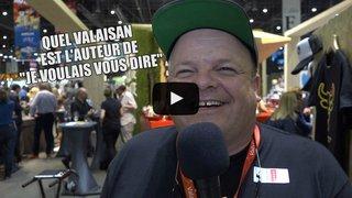 Salon du livre: l'interview tac au tac littéraire spécial Valais d'Eddy Baillifard ou Mr. Raclette