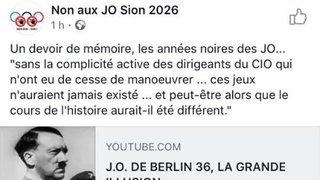 Sion 2026: la campagne dérape sur la Toile