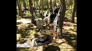 "Madrid inaugure un ""hamacodrome"", éloge de la paresse"
