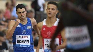 Athlétisme: première pour Julien Bonvin à Athletissima