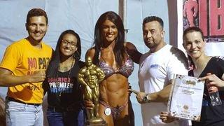 Bodybuilding: Fanny Clavien remporte le titre de Miss Univers IBFA en Italie