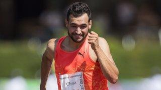 Il ne manque qu'un centième au sprinter valaisan Florian Clivaz pour s'aligner sur le 100 mètres aux Européens