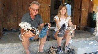 Fully: un renard subtilise des chaussures
