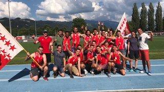 Athlétisme: le COA Valais romand champion de Suisse juniors