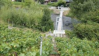 Valais: une lave torrentielle a foncé sur Chamoson suite à un orage, les images des débuts de la lave torrentielle et de son arrivée dans le village