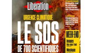 Réchauffement: 700 scientifiques français tirent la sonnette d'alarme dans une tribune en Une de Libération