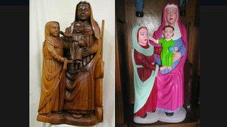 Espagne: elle restaure une statue de bois du XVe siècle avec des peintures kitsch