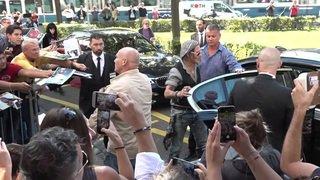 Arrivée de Johnny Depp au Festival du Film de Zurich