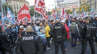 Genève: deuxième jour de manifestations pour les maçons qui défendent leurs conditions de travail