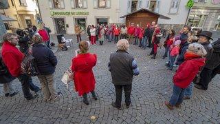 Monthey: 50 personnes réunies pour dire stop aux hausses des primes maladie