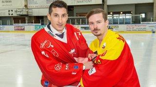 Hockey: Vincent Guex et Romain Wyssen, amis dans la vie, adversaires sur la glace