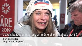 Ski alpin - Mondiaux d'Are: l'émotion de Corinne Suter après son podium