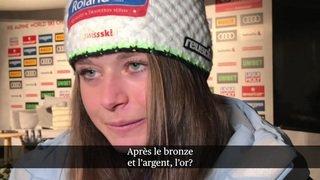Ski alpin - Mondiaux d'Are: interview de Corinne Suter qui a remporté l'argent en descente