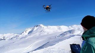 Valais: un drone autonome pour localiser les victimes d'avalanche